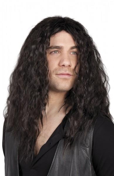 Black shaggy long hair wig Milo