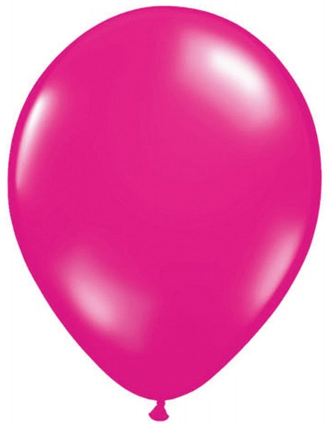 10 ballons en latex magenta 30cm