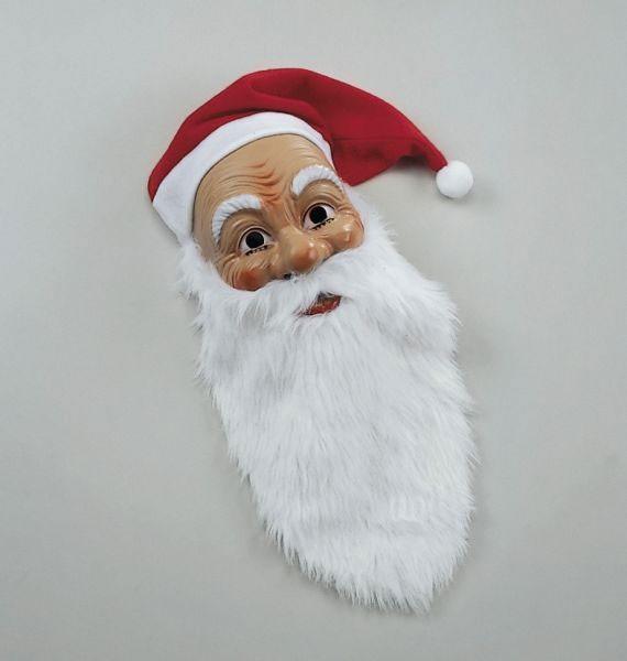 Masque en plastique du Père Noël
