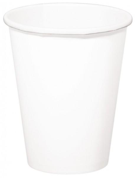 8 tasses Cleo blanc 350ml