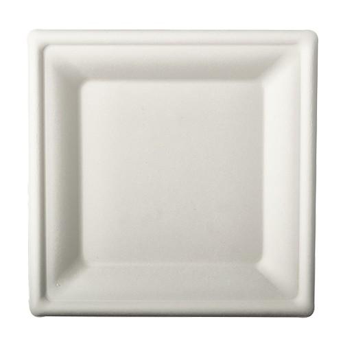 50 sugar cane plates Aida white 20 x 20cm