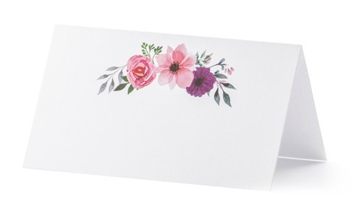 25 flower garden place cards 9.5 x 5.5cm