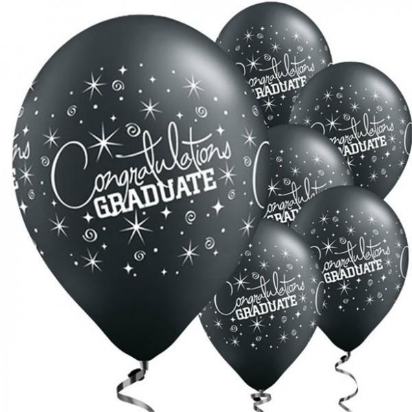 6 Glückwunsch Absolvent Luftballons 28cm