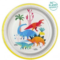 8 Dinoworld Party Teller 23cm