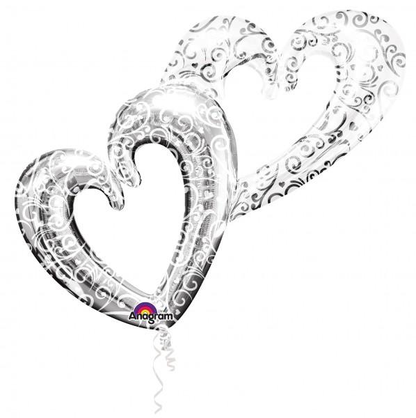 Ewige Liebe Herzballons silber 1