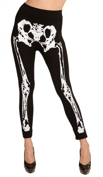 Skeleton Knochenleggins 75DEN