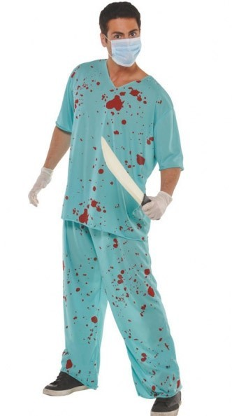 Murderous surgeon men's costume