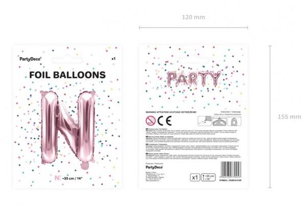 Folienballon N roségold 35cm 5