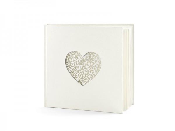Gästebuch Herz-Ornament 20,5cm mit 60 Seiten 1