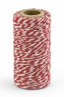 50m Baumwollgarn in Rot-Weiß