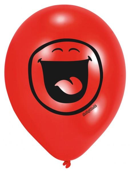 6 Smiley Luftballons Gefühlschaos 23 cm