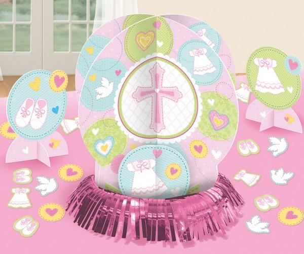 Tischdeko Set Heilige Kommunion Pink 23-teilig