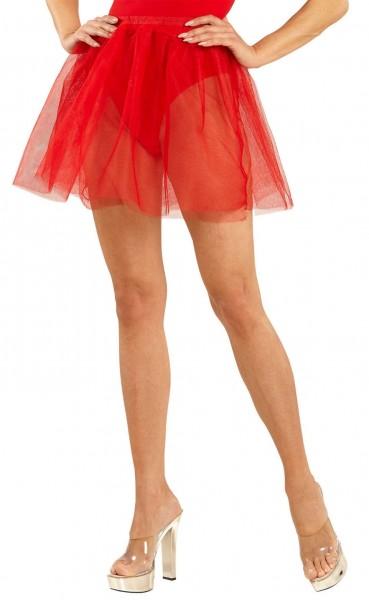 Schlichter Unterrock Für Damen Rot