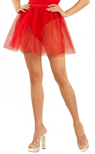 Plain petticoat for women red