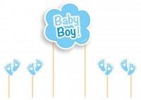 5-tlg. Tortendeko Set Baby Boy