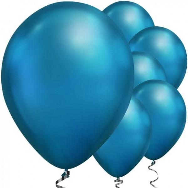 25 ballons en nacre bleu 28cm