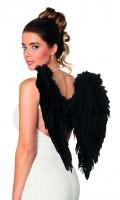 Schwarze Teufels Engel Flügel