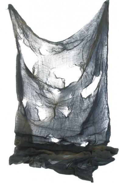 Verotteter Dekostoff schwarz 1,8m x 75cm
