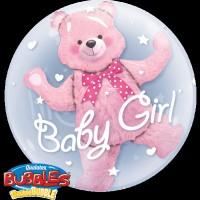 Baby Teddy Ballon-in-Ballon Rosa
