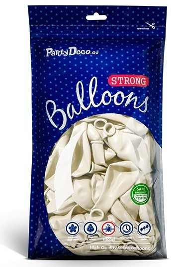 10 party star metallic balloons white 27cm