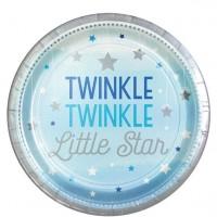 8 Twinkle Baby Boy Pappteller 23cm