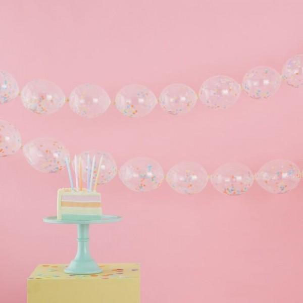24 Pastell Regenbogen Ballongirlande 12,7cm