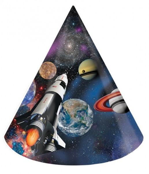 8 space shuttle party hats
