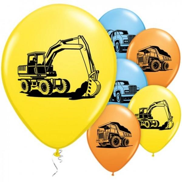 25 Baustellen Party Ballons 28cm