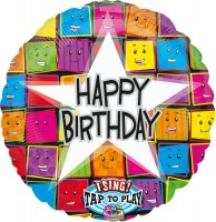 Singender Happy Birthday Folienballon