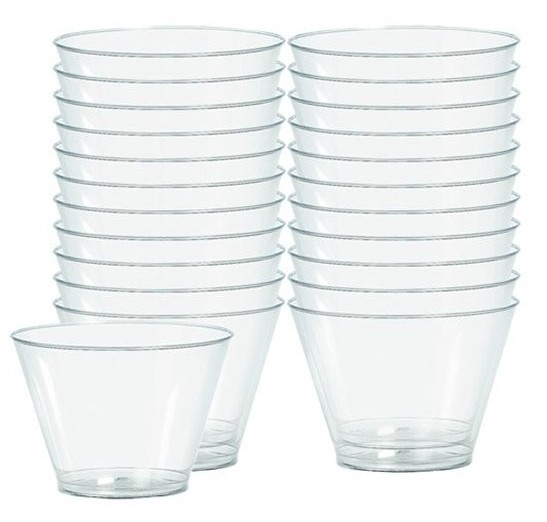 88 verres transparents Salut 142ml