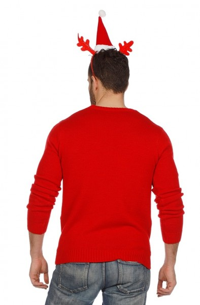 Reindeer Christmas Jumper Red