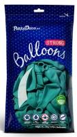 10 Partystar Luftballons türkis 30cm