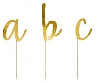 Vorschau: Goldene Buchstaben Tortendeko 53-teilig