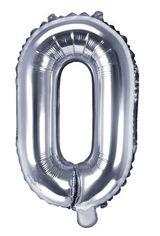 Folienballon O silber 35cm