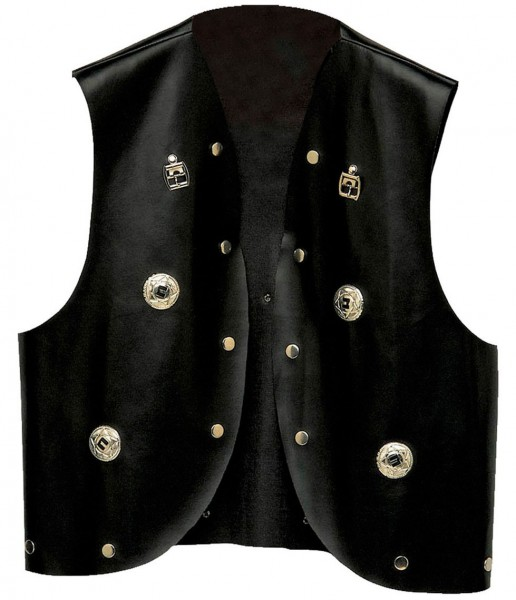 Gilet rivetto Rockstar in similpelle