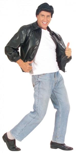 Schwarze Rockige Greas T-Bird Jacke