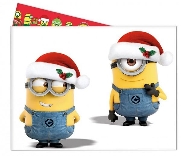Minions Christmas Tischdecke 1,8 x 1,2m