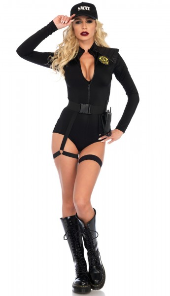 Sexy SWAT policewoman costume