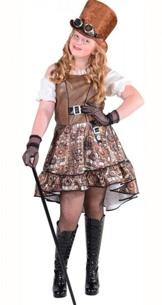 Viktorianisches Steampunk Lady Kostüm Für Kinder