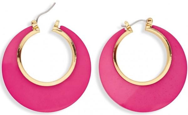 Pink-Goldene Disco Ohrringe