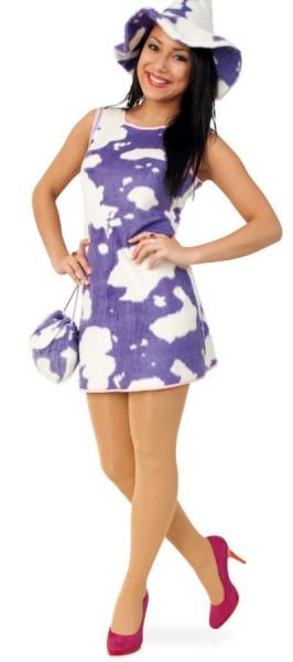Lila Kuhflecken Kleid Für Damen