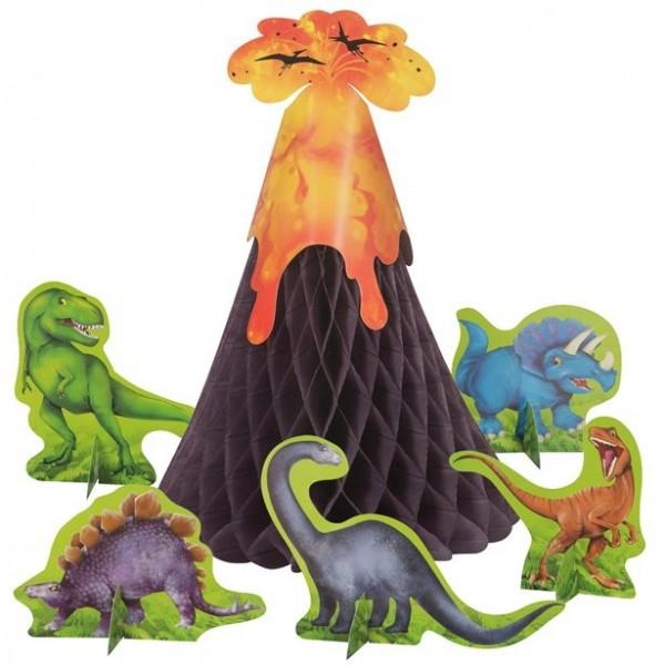 Dino Abenteuer Vulkan Tischdeko-Set 6-teilig