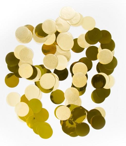 Gros confettis métalliques dorés 14g