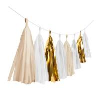 Shiny Gold Fransengirlande 3m