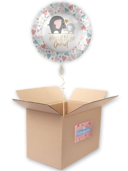 Babyparty Folienballon Loving Elephants 45cm