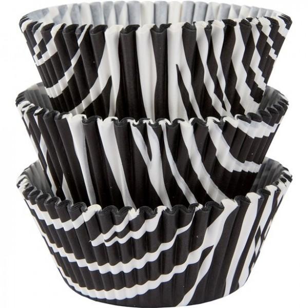 75 Zebra Muffinförmchen 5cm