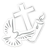 Streudeko Christliche Symbole 24-teilig