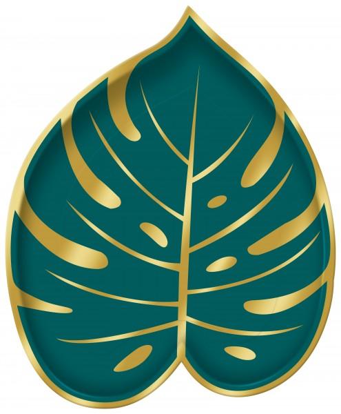 8 platos hojas de palmera 18cm