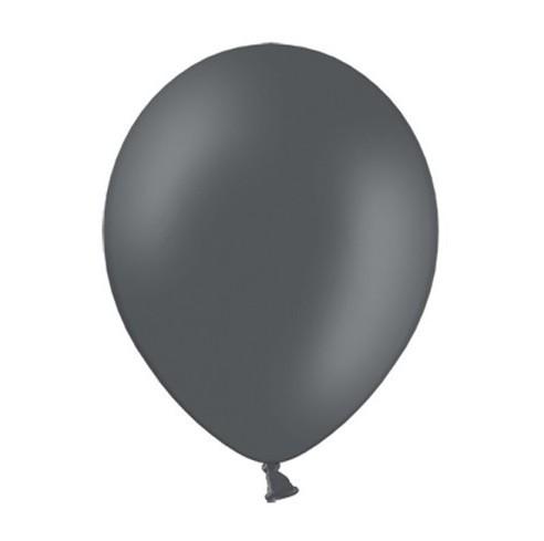 50 Partystar Luftballons anthrazit 23cm