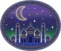 8 Papierteller Eid Mubarak 30cm